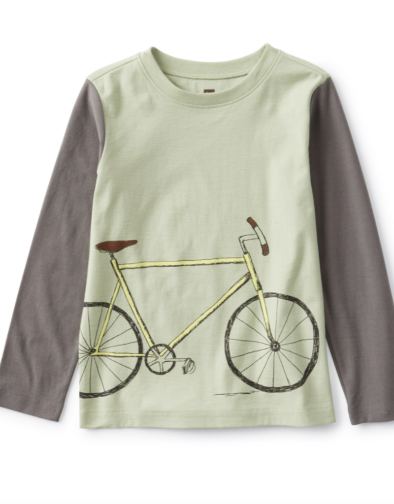 Tea Collection Bike Blocked Slv Graphic Tee Agave