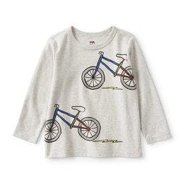 Tea Collection Bikes Graphic Tee Lt Grey