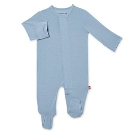 Magnetic Me Cool Blue Solid Modal Footie