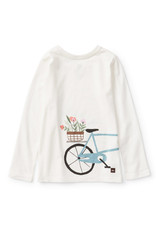 Tea Collection Bicycle Graphic Tee Chalk