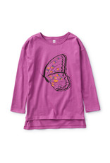 Tea Collection Butterfly Tunic Tee Passion Fruit