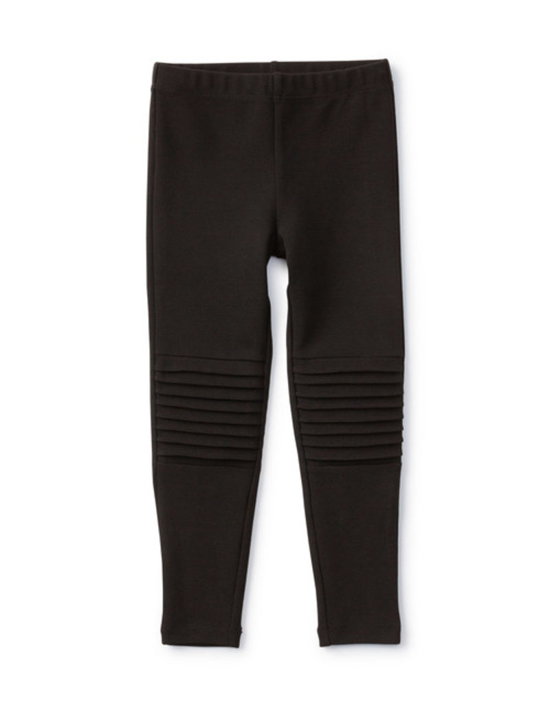 Tea Collection Girls Reinforced Knee Moto Pants Jet Black