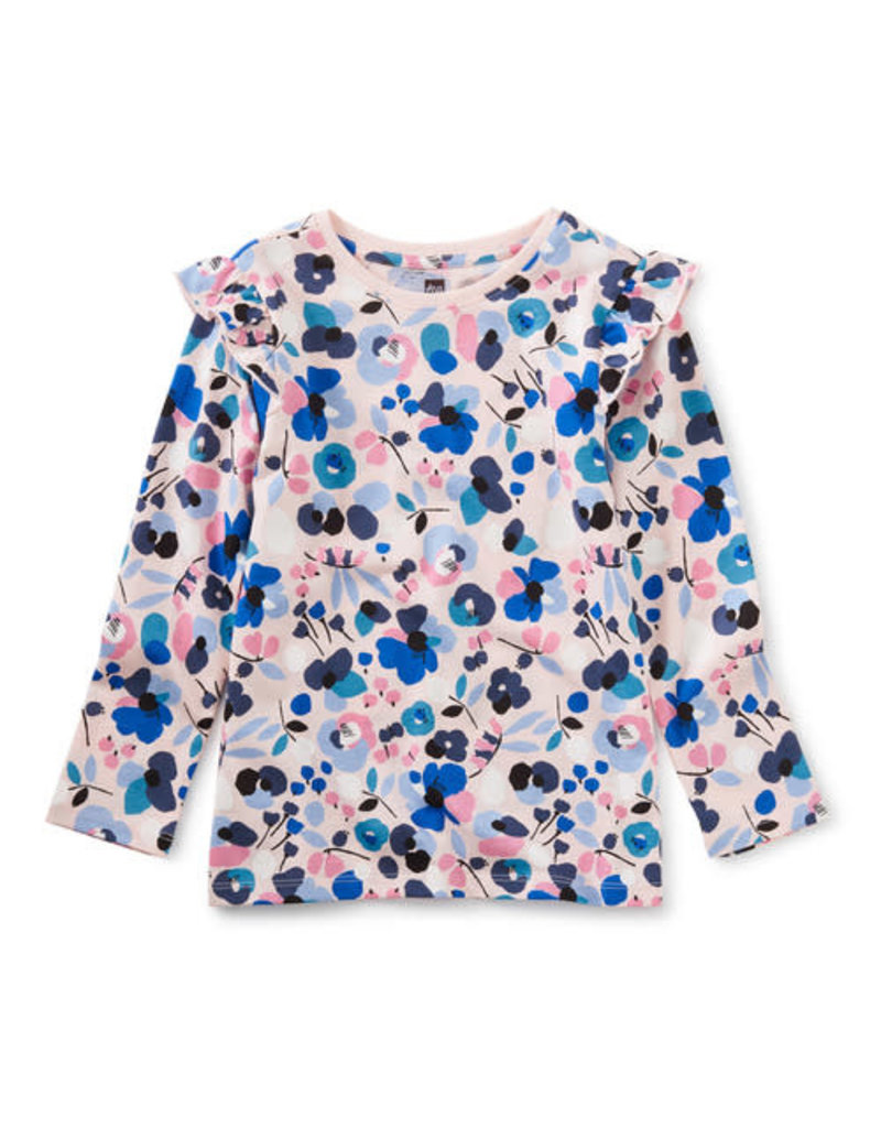 Tea Collection Ruffle Top Swedish Floral Pink