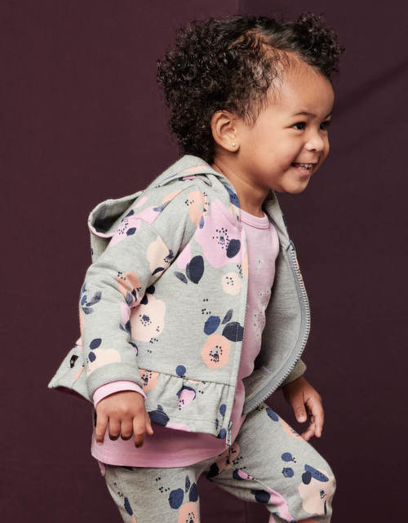 Tea Collection French Terry Baby Zip Hoodie Little Linnea