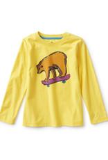 Tea Collection Skateboard Bear Graphic Tee Lemon