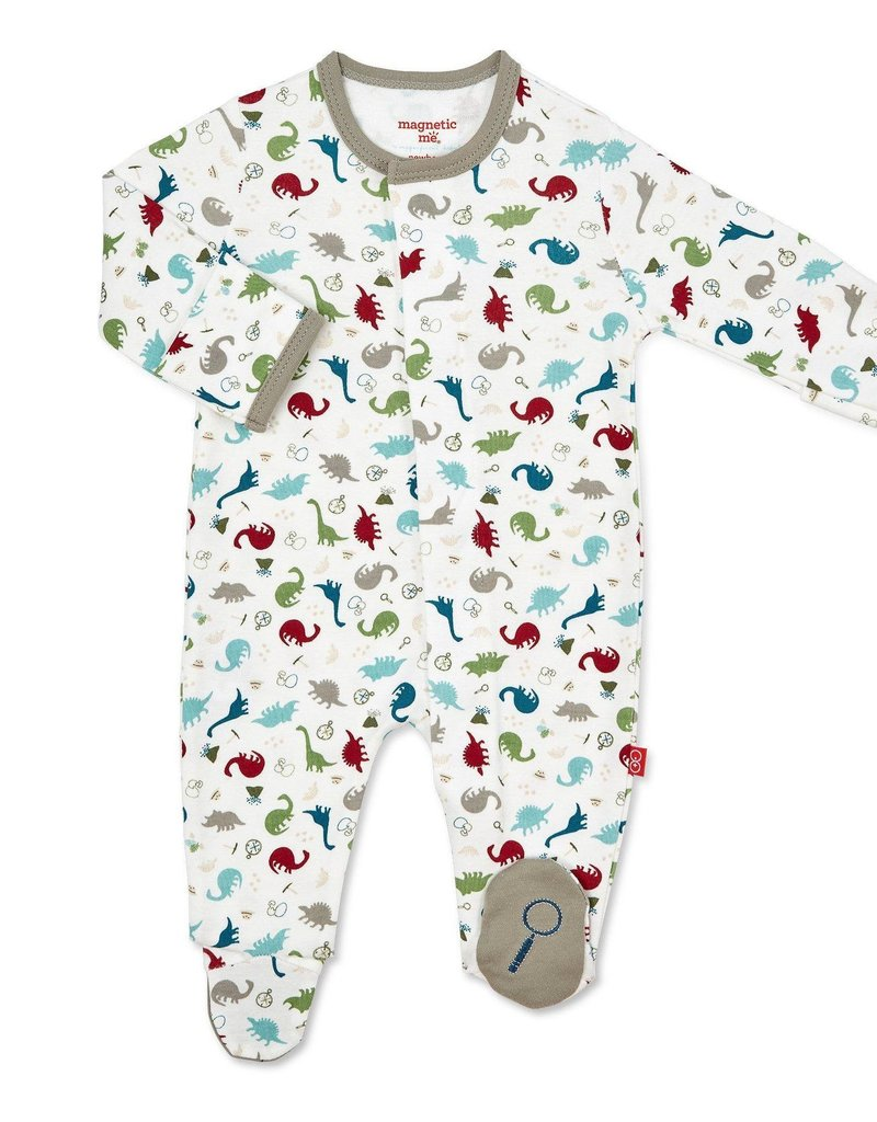 Magnetic Me Dino Expedition Organic Cotton Footie