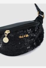 Abel & Lula Black Sequin Fanny Pack