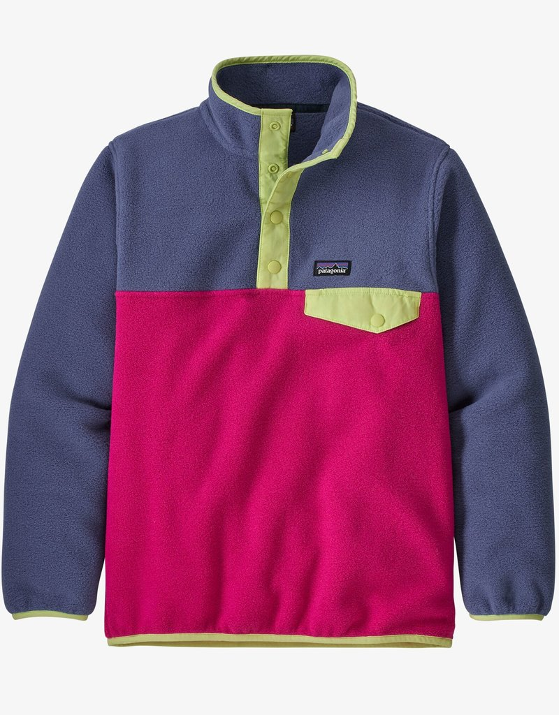 Patagonia Girls LW Synch Snap T Pull Over MYPK Mythic Pink
