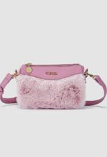 Abel & Lula Mauve Faux Fur Hand Bag