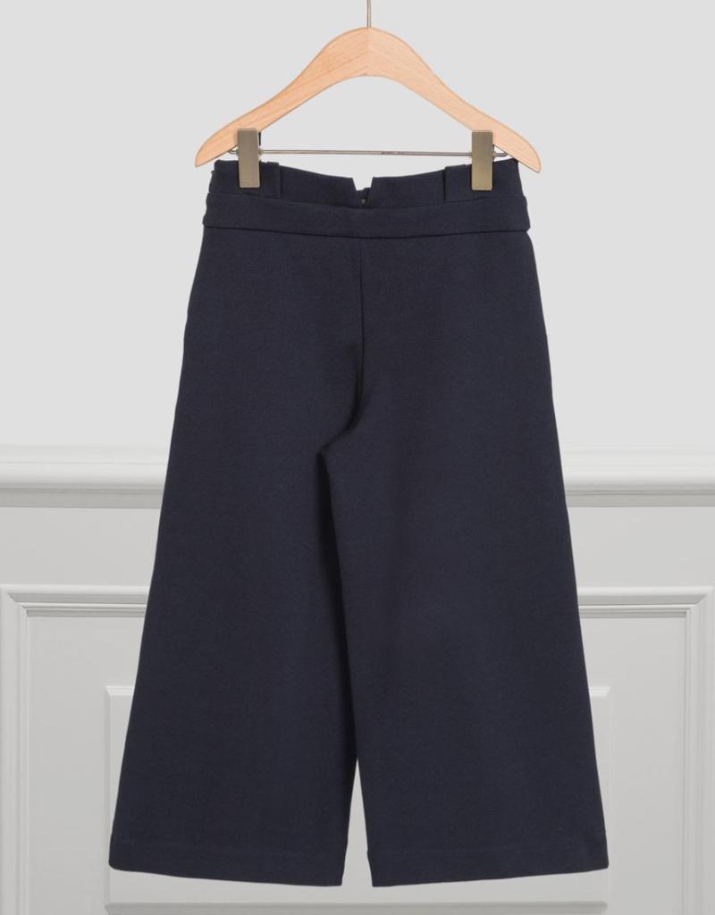 Abel & Lula Navy Milano Knit Pants