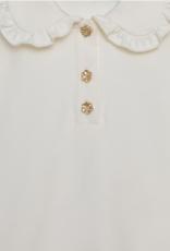 Abel & Lula L/S Knit Polo Cream