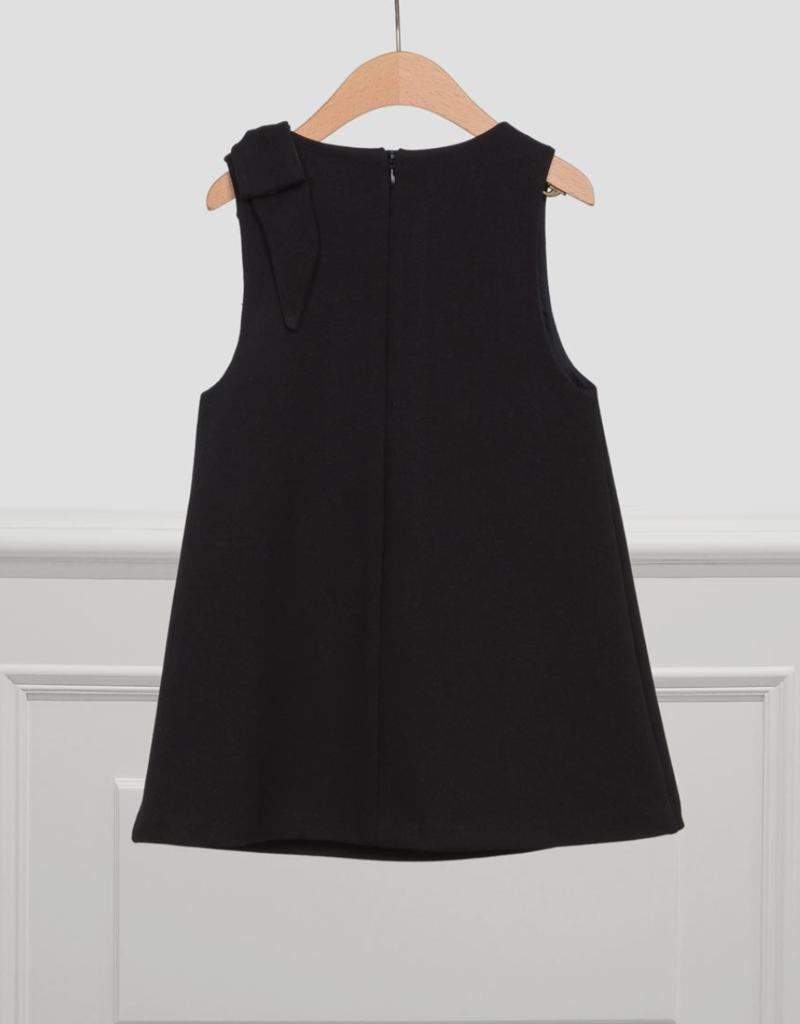 Abel & Lula Black Pinafore Knit Dress