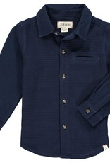 Me & Henry Atwood Woven Shirt Navy Waffle