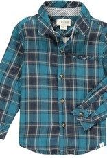 Me & Henry Atwood Woven Shirt Navy Blue Plaid
