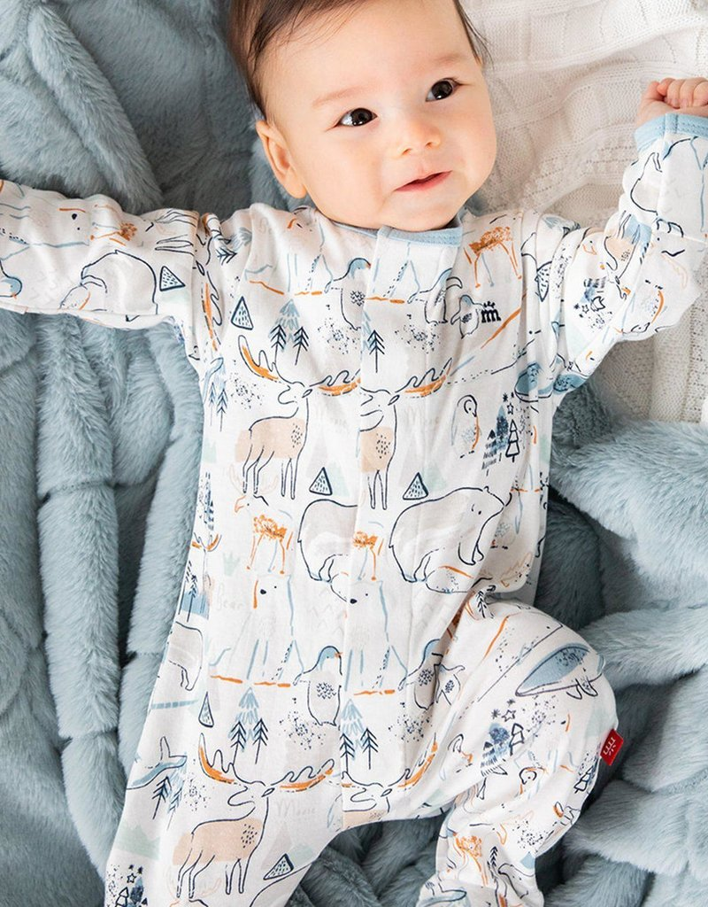 Magnetic Me Northern Lights Organic Cotton Footie