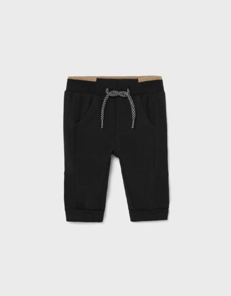 Mayoral Black Fleece Basic Pants