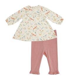 Angel Dear American Birds Ruffle Yoke Dress/Leggings