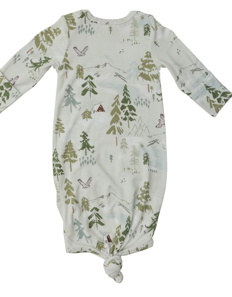 Angel Dear Tahoe Trees Knotted Gown 0/3M