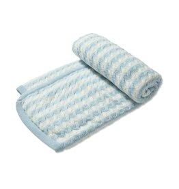 Angel Dear Sherpa Blanket Pale Blue Stripe