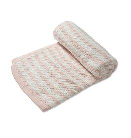 Angel Dear Sherpa Blanket Pale Pink Stripe