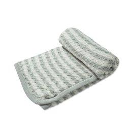Angel Dear Sherpa Blanket Grey Stripe