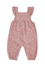 Angel Dear Mini Rose Corduroy Ruffle Overalls Pink