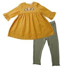 Angel Dear Honey Bell Sleeve Dress Leggings Set