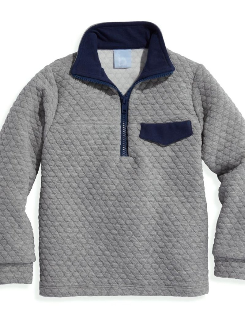 bella bliss Quilted Pullover Grey