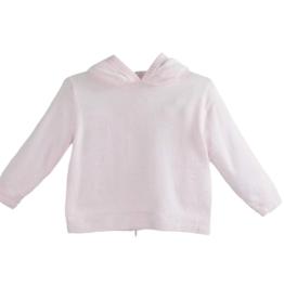 Zubels Back Zip Pink Knit Hoodie
