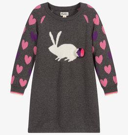 Bunny Hearts Sweater Dress