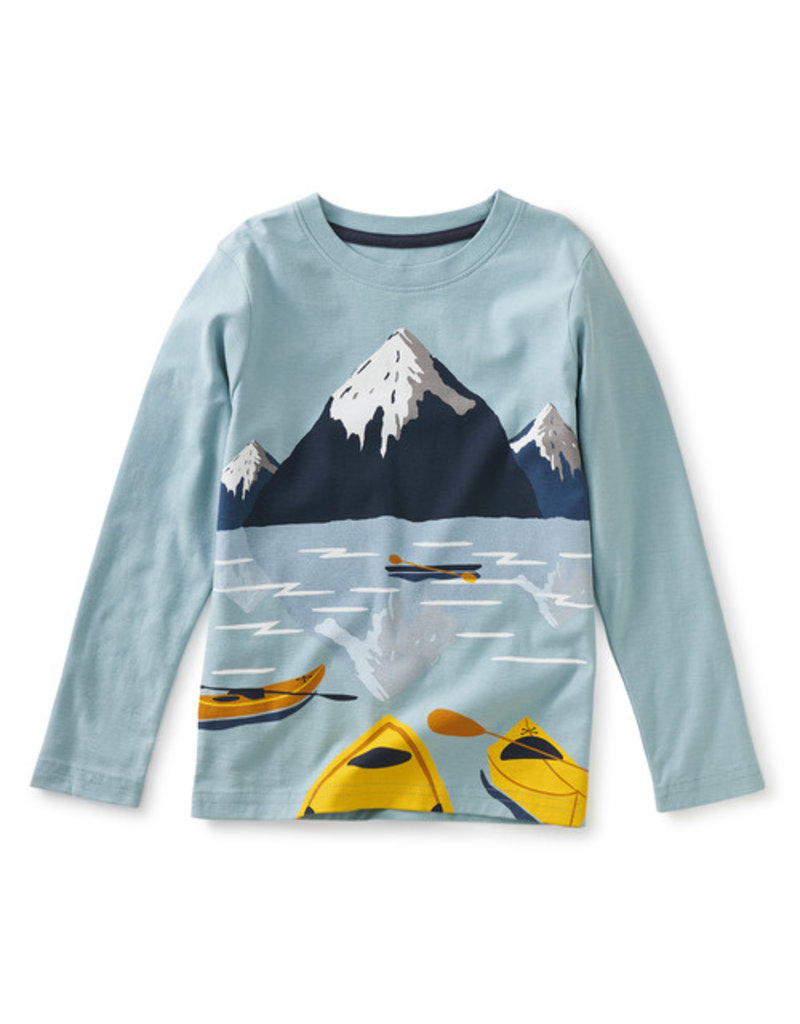 Tea Collection Arctic Kayak Graphic Tee Smokey Blue