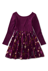 Tea Collection Ballet Skirted Dress Painted Petals