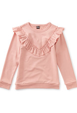 Tea Collection Ruffle Tunic Top Dusty Coral