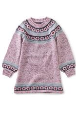 Tea Collection Fairisle Flair Sweater Dress Mauve