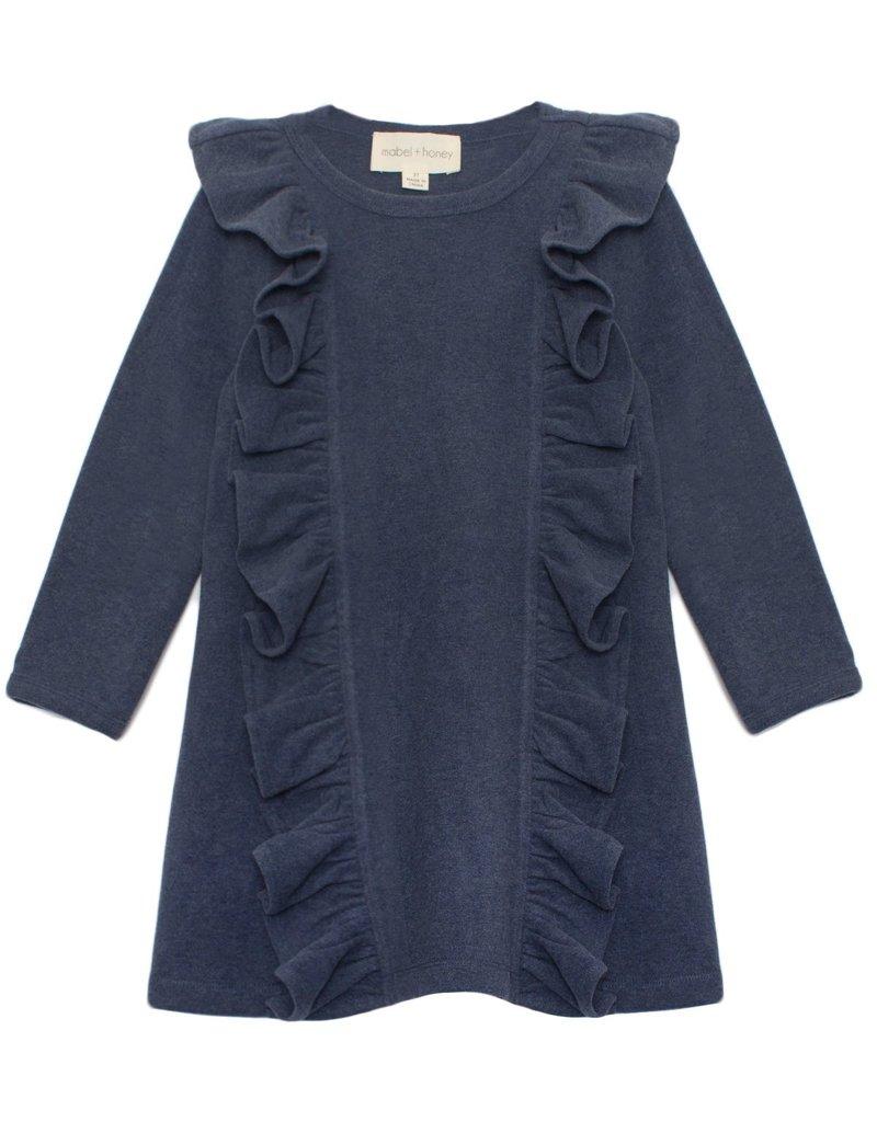 Mabel and Honey Ocean Waves Knit Dress Blue