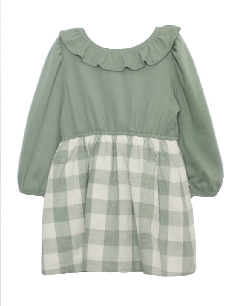 Mabel and Honey Meadow Knit Dress Green