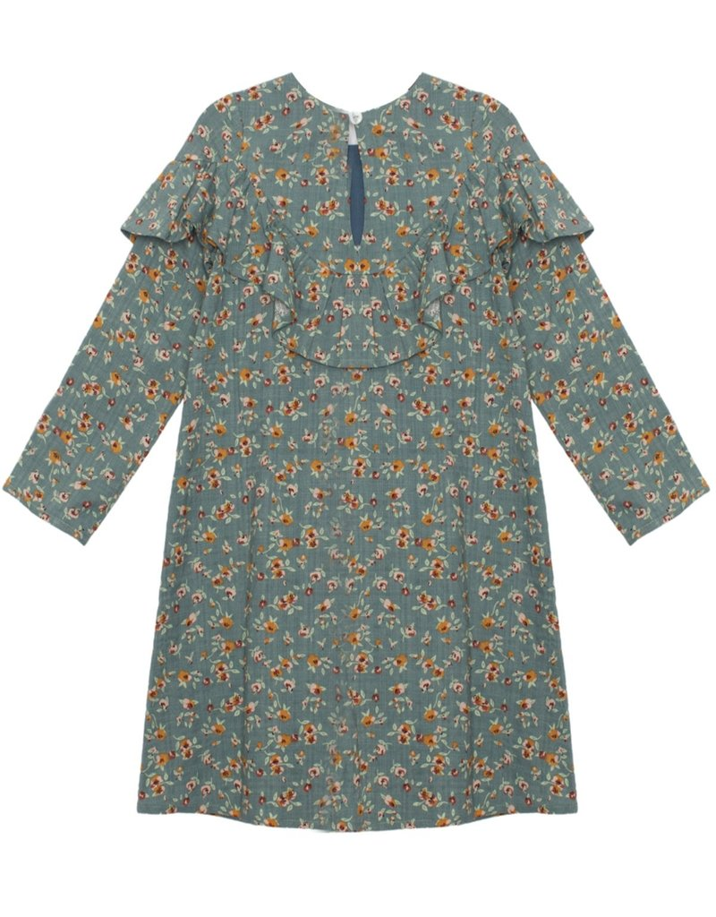 Mabel and Honey Creative Soul Woven Dress Green