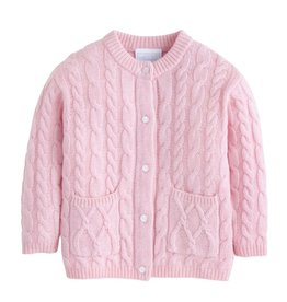 little english Classic Cashmere Cardigan Lt Pink