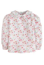 little english Ruffled Peter Pan Blouse Midway Floral