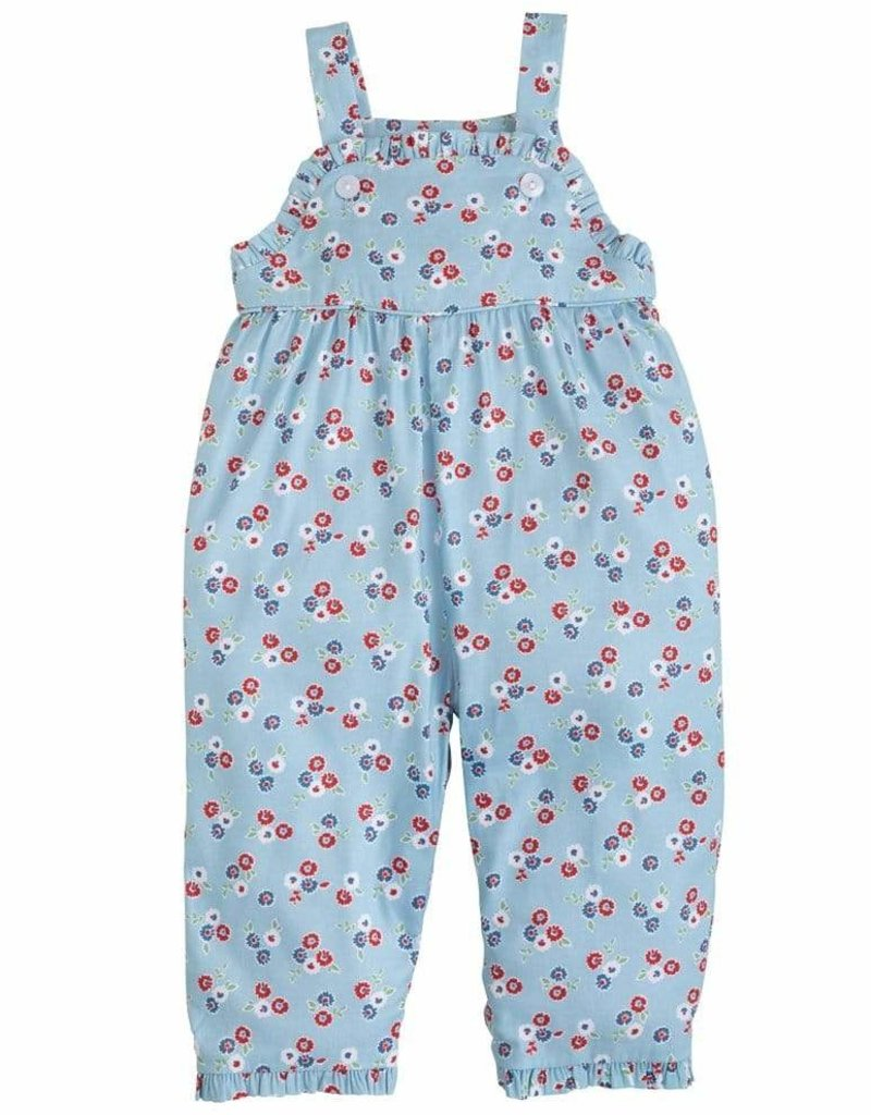 little english Ruffled Overall Bloomy Floral