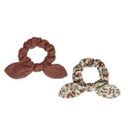 Rylee & Cru Scrunchie Set Vintage Floral/Wine