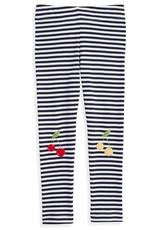 bella bliss Striped Applique Leggings Cherries