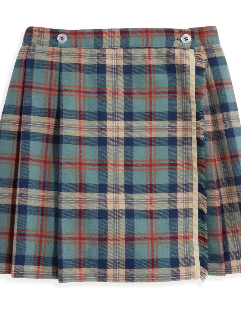 bella bliss Mulberry Plaid Plaid Wrap Skirt