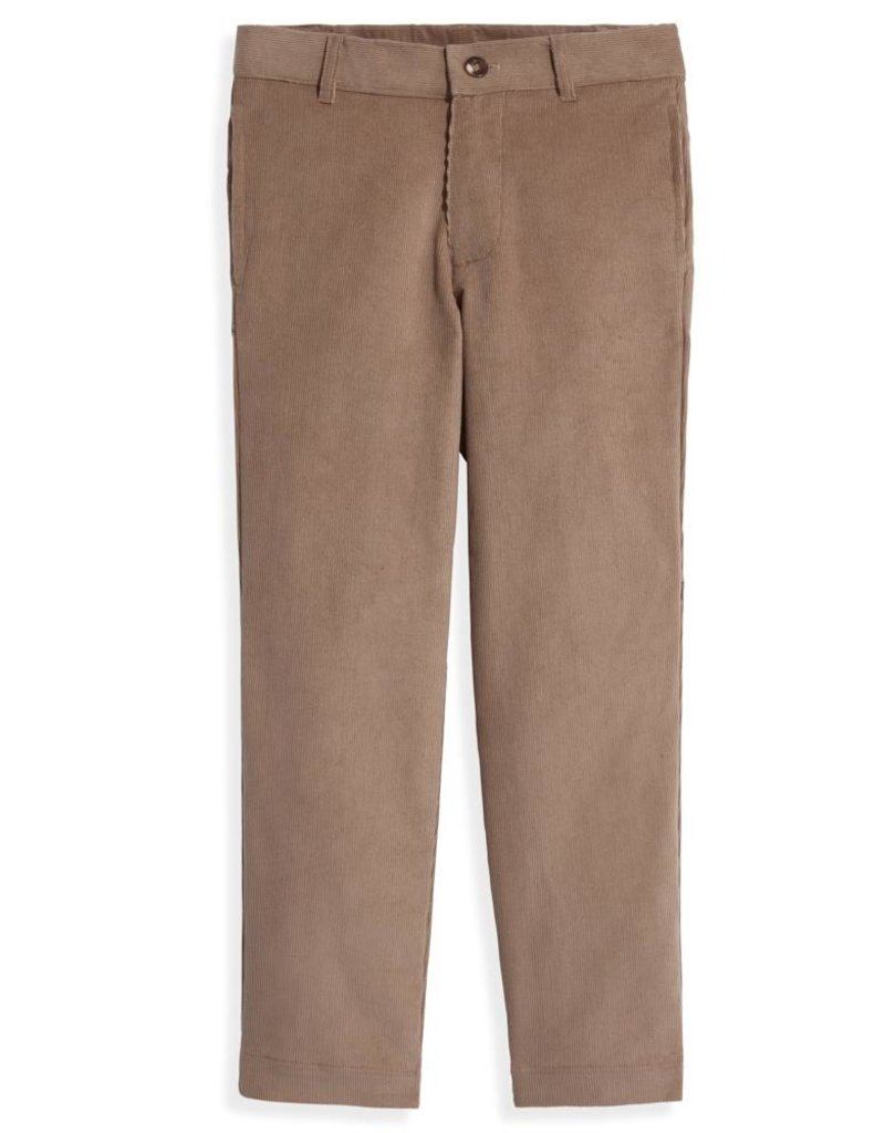bella bliss Boys Corduroy Slim Pants Coconut