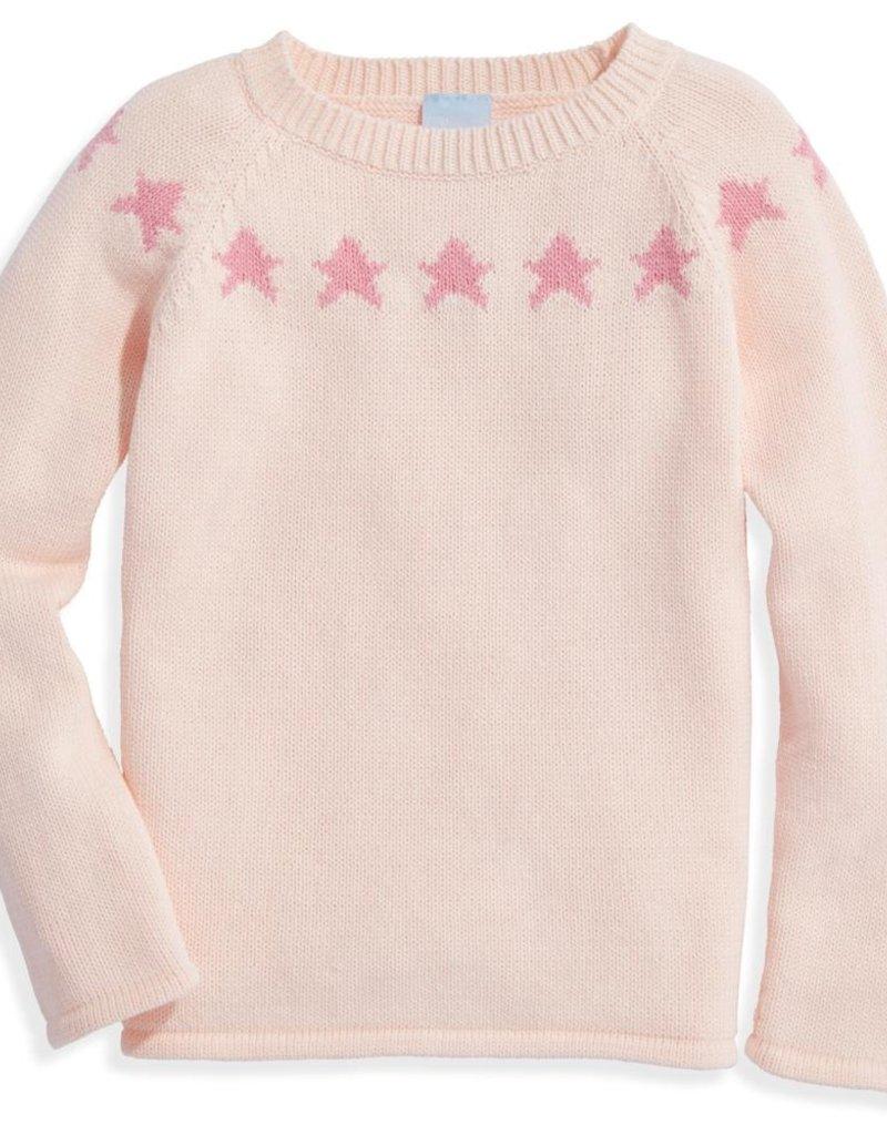 bella bliss Pink Star Intarsia Pullover
