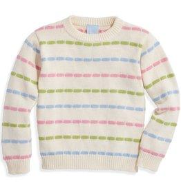 bella bliss Pastel Rainbow Stripes Pullover