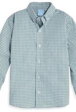 bella bliss Button Down Teal Check Shirt