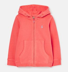 Joules Mayday Garment Dyed Hoodie Bright Pink