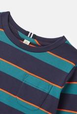 Joules Marlin L/S Stripe Tee Teal Navy Stripe