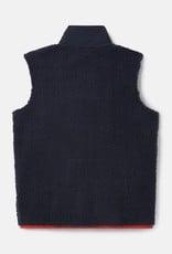 Joules Boys Reuben Zip Fleece Vest Navy